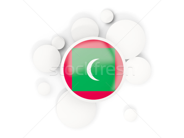 Round flag of maldives with circles pattern Stock photo © MikhailMishchenko