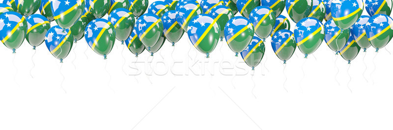 Balloons frame with flag of solomon islands Stock photo © MikhailMishchenko