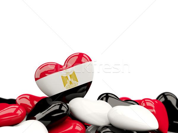 Heart with flag of egypt Stock photo © MikhailMishchenko