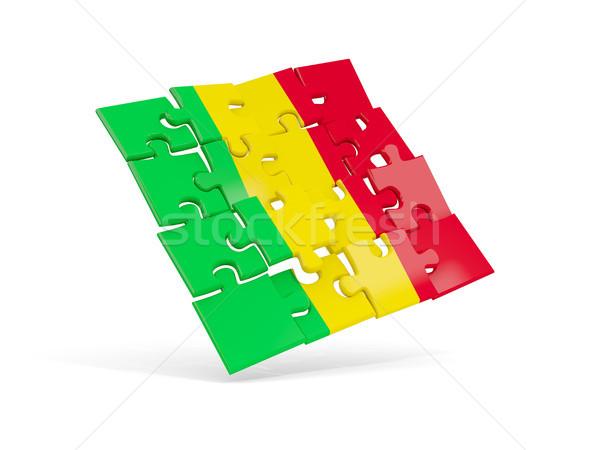 Puzzle flag of mali isolated on white Stock photo © MikhailMishchenko