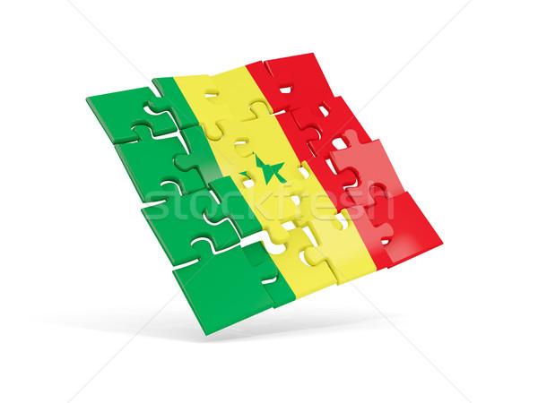 Puzzle zászló Szenegál izolált fehér 3d illusztráció Stock fotó © MikhailMishchenko