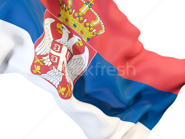 Waving flag of serbia Stock photo © MikhailMishchenko