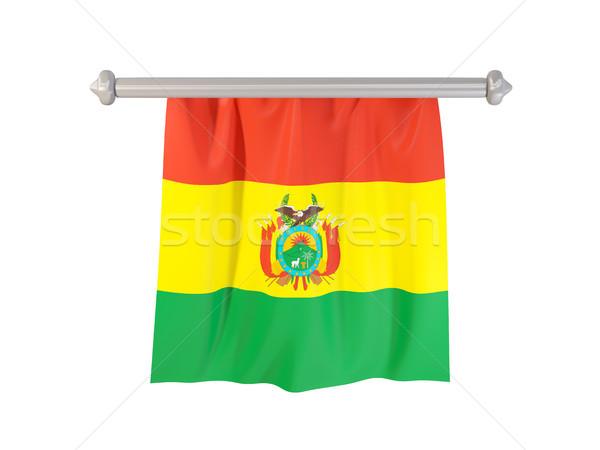フラグ ボリビア 孤立した 白 3次元の図 ラベル ストックフォト © MikhailMishchenko