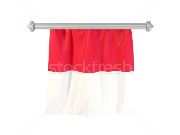 Bandeira Mônaco isolado branco ilustração 3d etiqueta Foto stock © MikhailMishchenko
