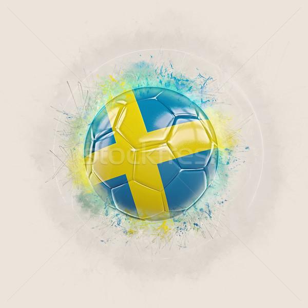 Гранж футбола флаг Швеция 3d иллюстрации дизайна Сток-фото © MikhailMishchenko