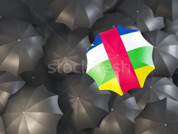 Paraplu vlag centraal afrikaanse republiek top Stockfoto © MikhailMishchenko