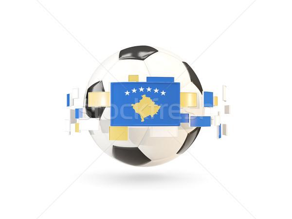 Futebol linha bandeiras bandeira Kosovo flutuante Foto stock © MikhailMishchenko