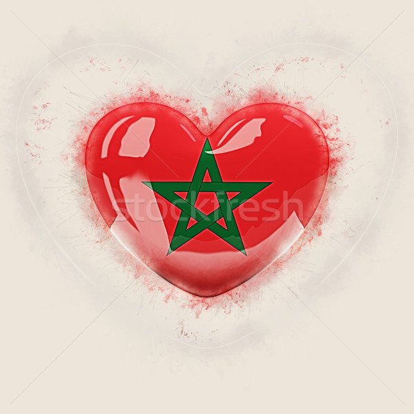 Heart with flag of morocco Stock photo © MikhailMishchenko