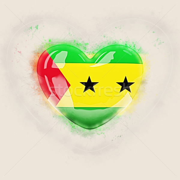 Heart with flag of sao tome and principe Stock photo © MikhailMishchenko