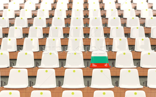 Stock photo: Stadium seat with flag of bulgaria