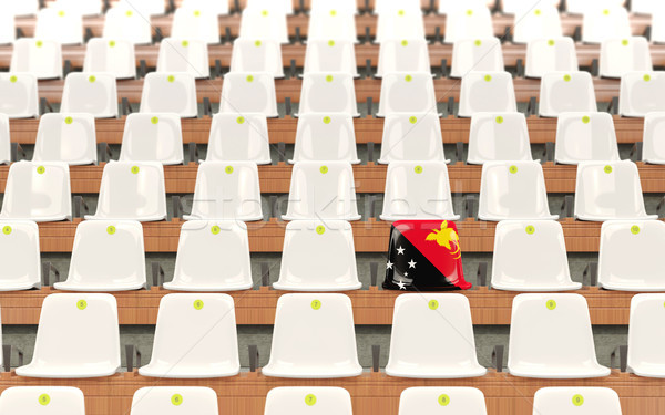 Stock photo: Stadium seat with flag of papua new guinea
