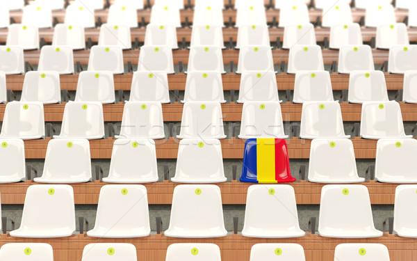 Stadium seat with flag of romania Stock photo © MikhailMishchenko
