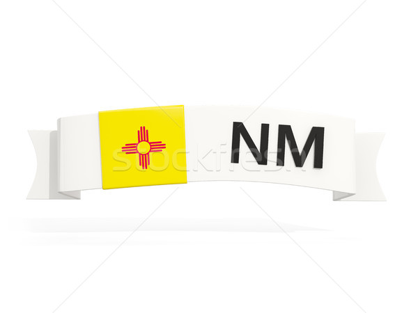 new mexico state flag on banner with postal abbreviation isolate Stock photo © MikhailMishchenko