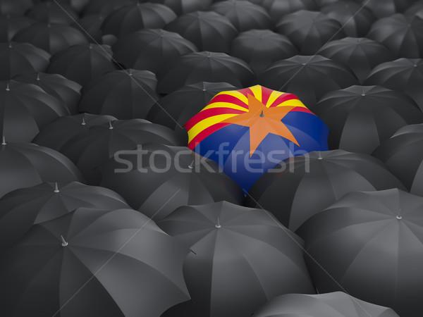 アリゾナ州 フラグ 傘 米国 ローカル フラグ ストックフォト © MikhailMishchenko