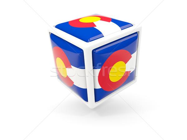Колорадо флаг куб икона Соединенные Штаты местный Сток-фото © MikhailMishchenko