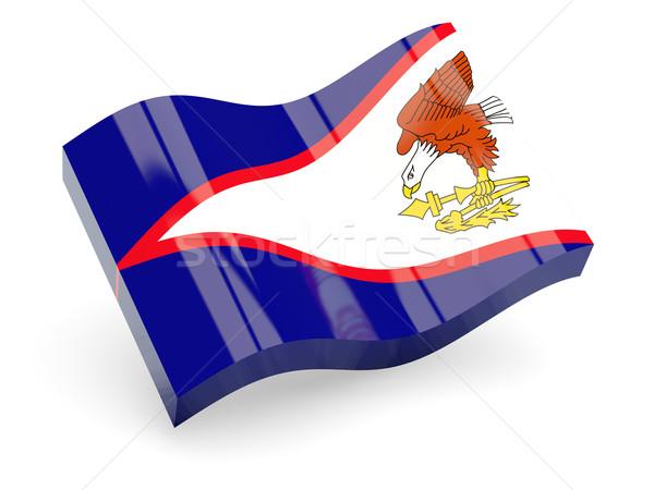3D vlag Amerikaans Samoa geïsoleerd witte reizen Stockfoto © MikhailMishchenko