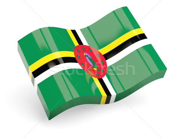 3D vlag Dominica geïsoleerd witte reizen Stockfoto © MikhailMishchenko