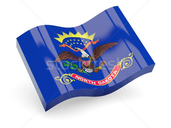 Golvend icon North Dakota vlag Stockfoto © MikhailMishchenko