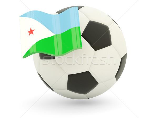 Piłka nożna banderą Dżibuti odizolowany biały sportu Zdjęcia stock © MikhailMishchenko