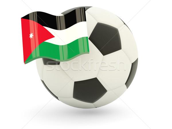 Piłka nożna banderą Jordania odizolowany biały sportu Zdjęcia stock © MikhailMishchenko