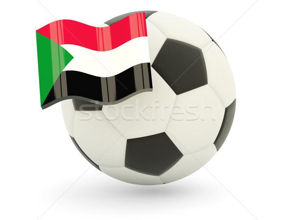 Piłka nożna banderą Sudan odizolowany biały sportu Zdjęcia stock © MikhailMishchenko