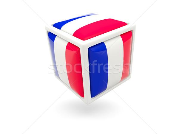 Stok fotoğraf: Bayrak · Fransa · küp · ikon · yalıtılmış · beyaz