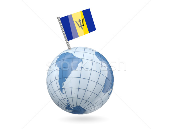 Globe with flag of barbados Stock photo © MikhailMishchenko
