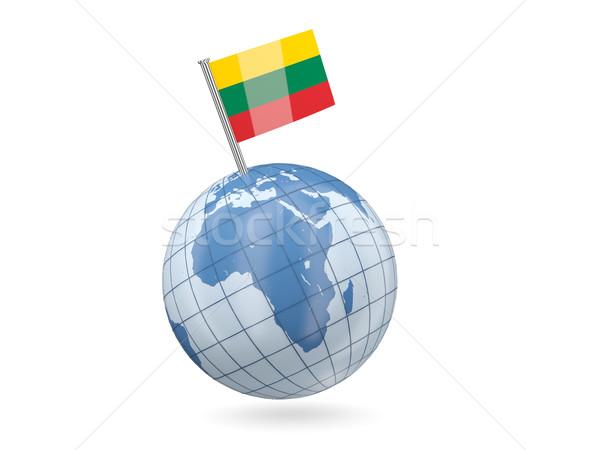 世界中 フラグ リトアニア 青 孤立した 白 ストックフォト © MikhailMishchenko