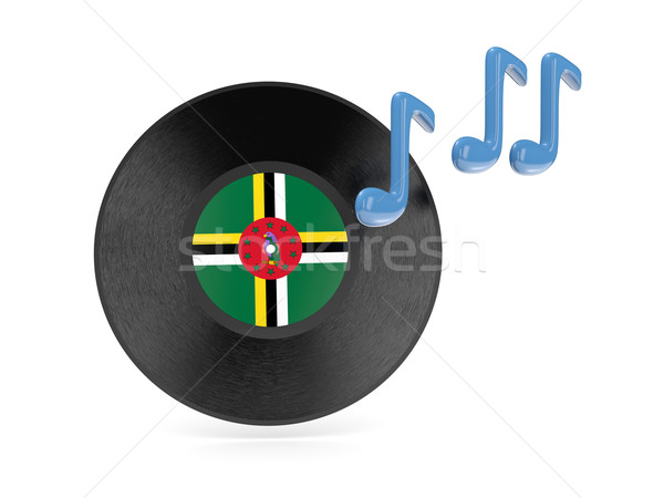 виниловых диск флаг Доминика изолированный белый Сток-фото © MikhailMishchenko