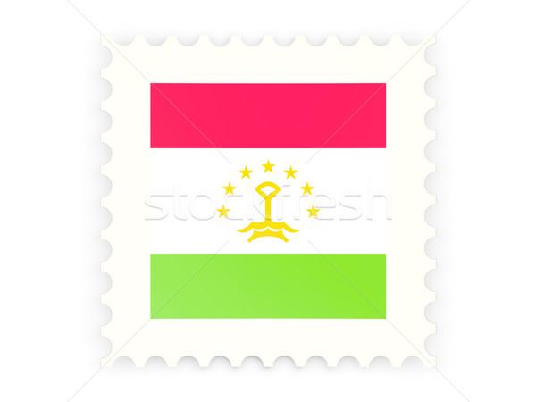 почтовая марка икона Таджикистан изолированный белый знак Сток-фото © MikhailMishchenko
