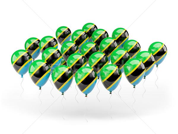 Balony banderą Tanzania odizolowany biały kraju Zdjęcia stock © MikhailMishchenko