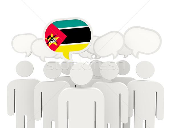 People with flag of mozambique Stock photo © MikhailMishchenko