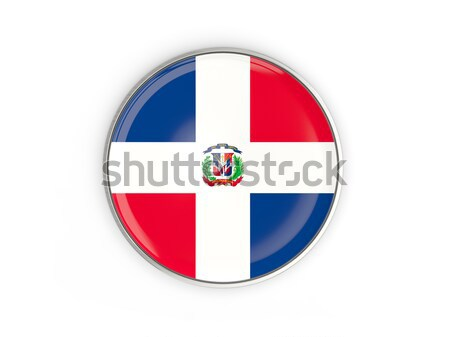 Round button with flag of dominican republic Stock photo © MikhailMishchenko