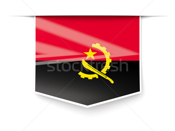 Square label with flag of angola Stock photo © MikhailMishchenko