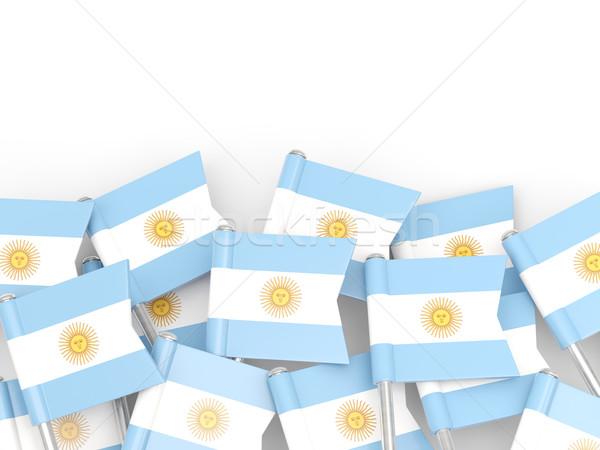 флаг Pin Аргентина изолированный белый фон Сток-фото © MikhailMishchenko