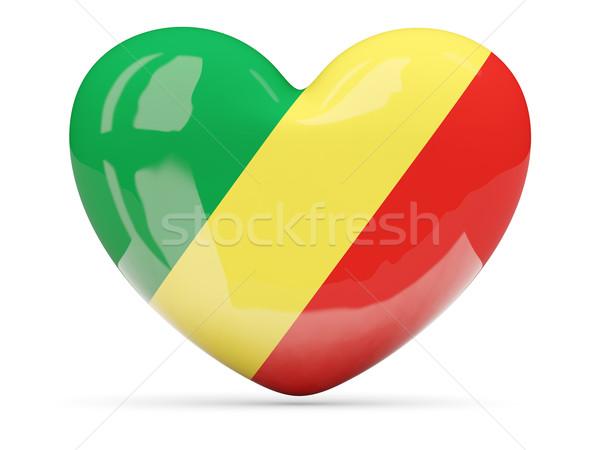 Kalp ikon bayrak cumhuriyet Kongo Stok fotoğraf © MikhailMishchenko