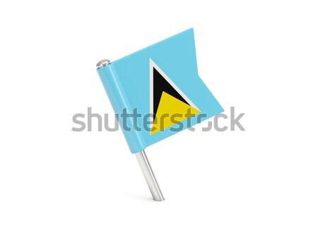 Flag pin of saint lucia Stock photo © MikhailMishchenko