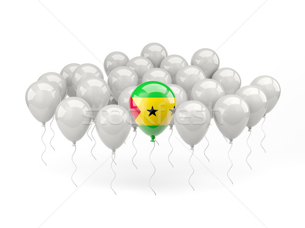 Air balloons with flag of sao tome and principe Stock photo © MikhailMishchenko