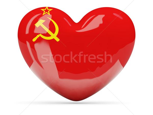 Cuore icona bandiera urss isolato Foto d'archivio © MikhailMishchenko