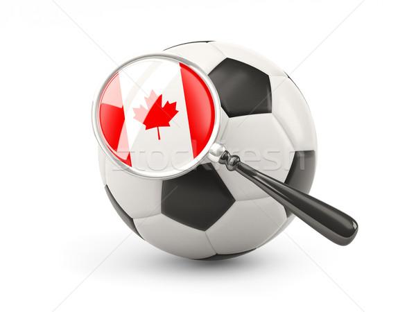 サッカー 拡大された フラグ カナダ 孤立した 白 ストックフォト © MikhailMishchenko