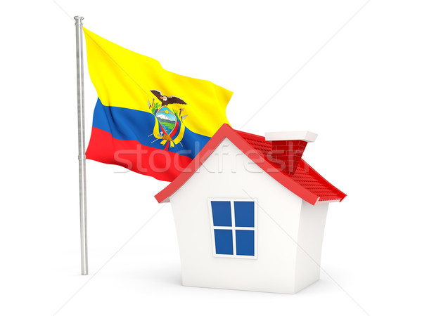 House with flag of ecuador Stock photo © MikhailMishchenko