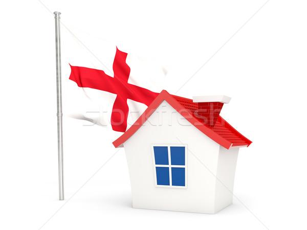 Ház zászló Anglia izolált fehér otthon Stock fotó © MikhailMishchenko