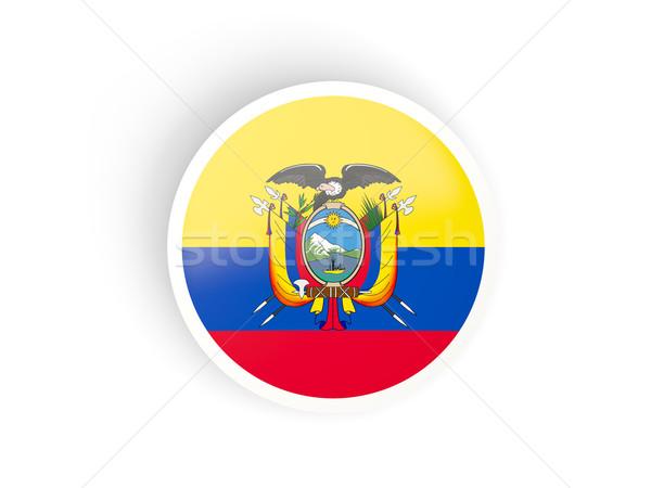 Sticker vlag Ecuador geïsoleerd witte reizen Stockfoto © MikhailMishchenko