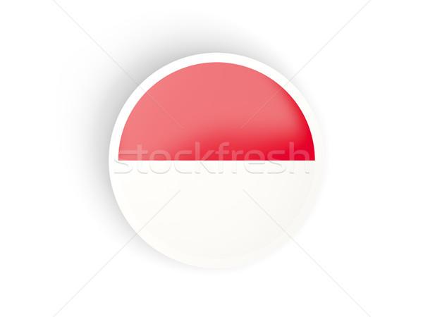 Round sticker with flag of indonesia Stock photo © MikhailMishchenko