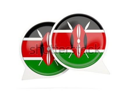 Round sticker with flag of kenya Stock photo © MikhailMishchenko