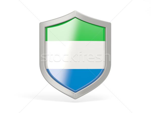 Shield icon with flag of sierra leone Stock photo © MikhailMishchenko
