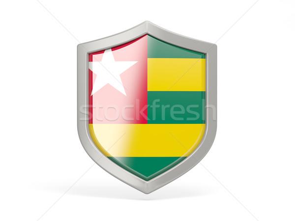 Scudo icona bandiera Togo isolato bianco Foto d'archivio © MikhailMishchenko