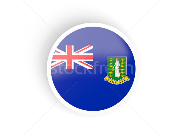 Stock photo: Round sticker with flag of virgin islands british