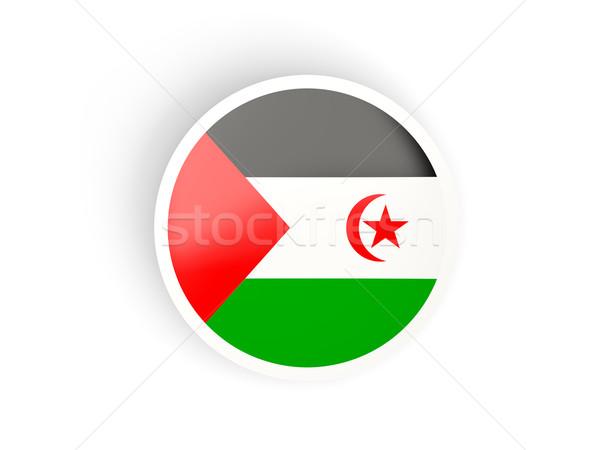 Etiket bayrak batı sahara yalıtılmış beyaz Stok fotoğraf © MikhailMishchenko