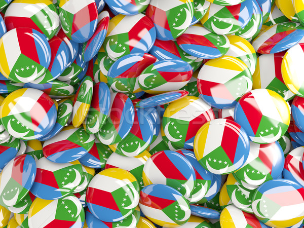 Background with round pins with flag of comoros Stock photo © MikhailMishchenko